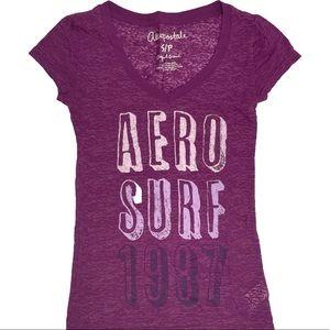 Aeropostale Graphic Purple T-Shirt